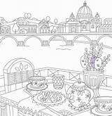 Coloring Travel Colouring Adult Printable Italy Adults Sheets Cool Amazing Than Barbie sketch template