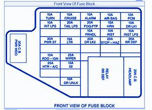 Pontiac Grand S E 2000 Engine Fuse Box  Block Circuit