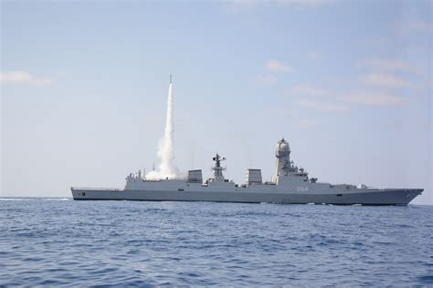 India Navy conducts MRSAM firing test | Indian Defence ...