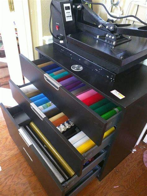 vinyl storage heat press tableikea   home mommas craft haven pinterest