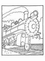 Coloring Pages Train Caboose Popular Diesel sketch template