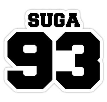 quot bts bangtan boys suga football design black quot stickers by impalecki redbubble