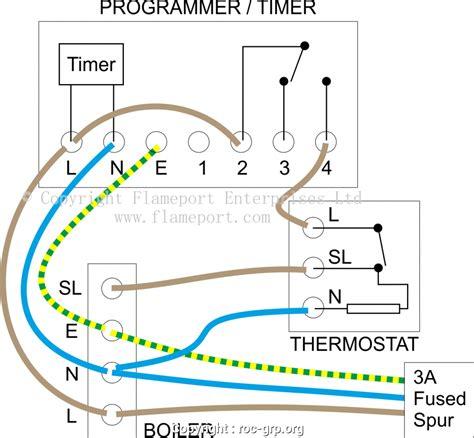 detail wiring diagram for a combi boiler external