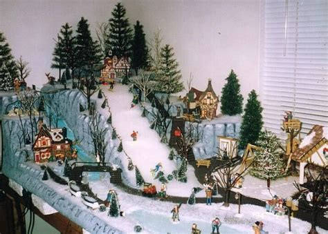christmas village displays christmas tree village