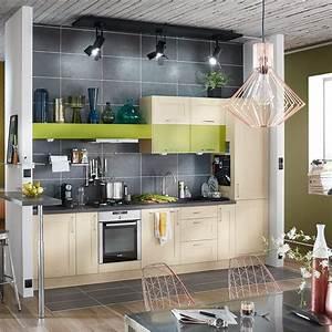 Meuble Cuisine Leroy Merlin : meuble de cuisine blanc delinia ines leroy merlin ~ Melissatoandfro.com Idées de Décoration