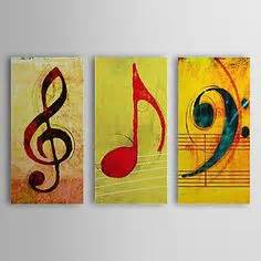 modern-abstract-huge-oil-painting-canvas-music-note ...