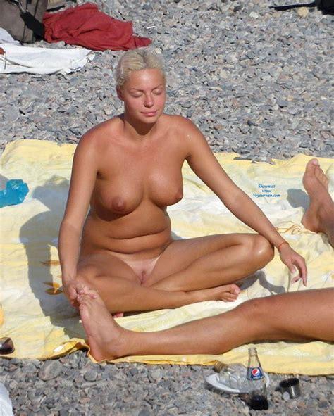 Blonde Girls Beach Meditation November Voyeur