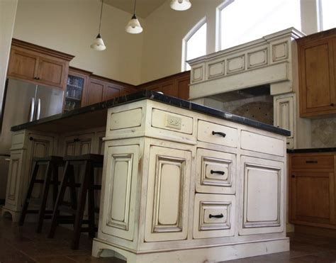 antique white island traditional kitchen phoenix