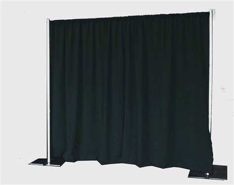 Backdrop Pipe And Drape - portable backdrop kit 8 ft x 10 ft wide pipe and
