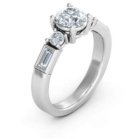 sterling silver engagement ring name my jewelry