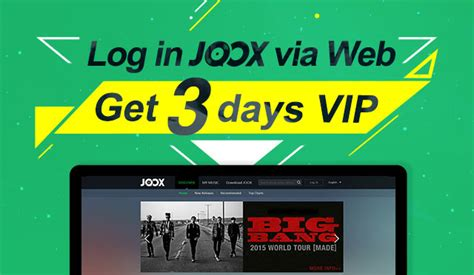 Joox Web Login