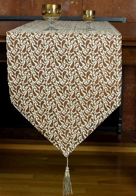 jacquard paisley table runner banarsi designs