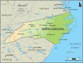 North Carolina United States Map