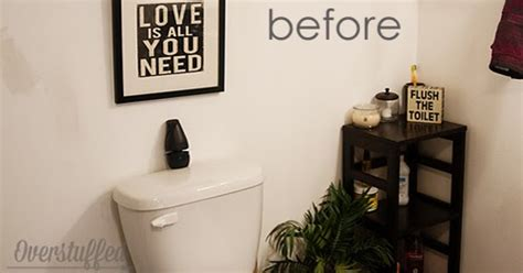 Easy Bathroom Makeover by Easy Bathroom Makeover Overstuffed