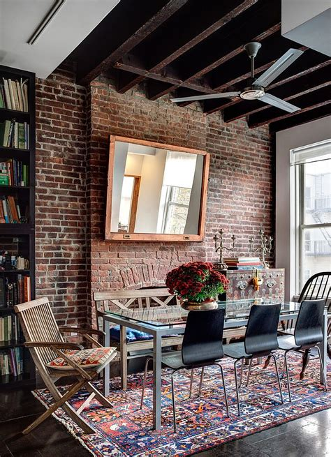 decorating brick wall 50 bold and inventive dining rooms with brick walls