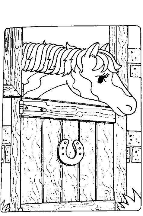 Paardenstal Kleurplaat by Kleurplaten Paarden