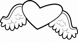 Free Coloring Pages : 7 Hearts with Wings Coloring Pages ...