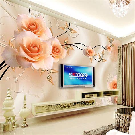 custom photo wallpaper modern  relief roses flower wall