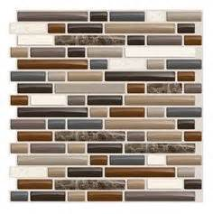 Smart Tiles Bellagio Mosaik 6 Pack by Smart Tiles 6 Pack White Beige Brown Glossy Composite