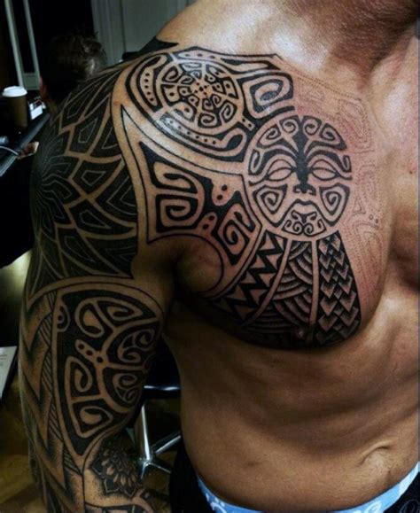tribal sleeve tattoos  men manly arm design ideas