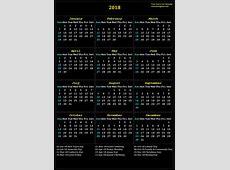 2018 calendar with Indian holidays list 2018 Calendar