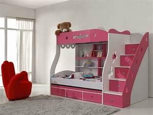 Lit Superposé Rangement : l 39 arrangement des lits superpos s dans la chambre d 39 enfant ~ Teatrodelosmanantiales.com Idées de Décoration