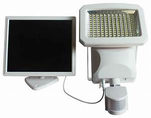 Outdoor led solar powered motion activated security