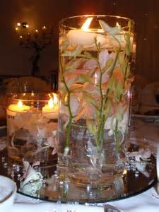 wedding reception centerpieces ideas bowl filled with pink lotus and floating candles for wedding centerpiece decoration with