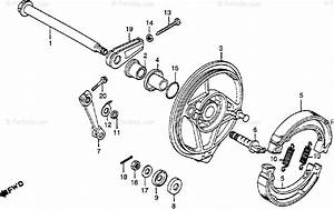 Honda Motorcycle 1979 Oem Parts Diagram For Rear Brake