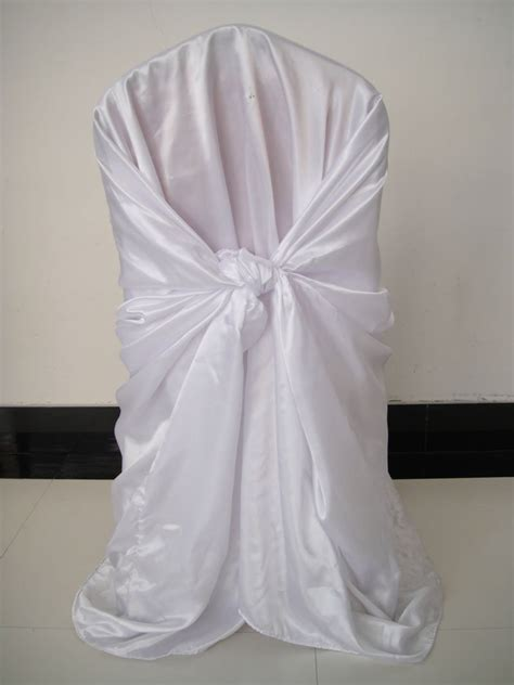white satin universal chair cover promotion