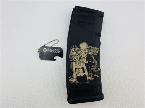 black rose firearms laser engraved magpul ar magazine