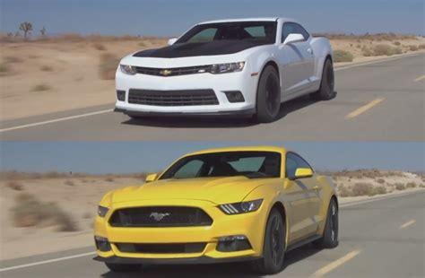 Camaro Ss Vs Mustang Gt by 2015 Ford Mustang Gt Vs 2015 Chevrolet Camaro Ss Motor