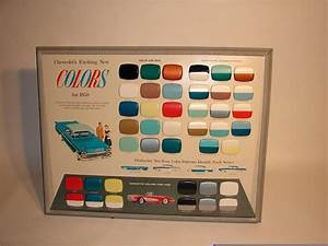 Car Paint Colors Chart Incredible 1958 Chevrolet Automobile Colors Showroom Display