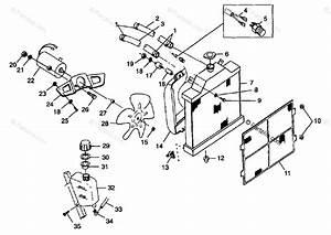 Polaris Atv 1998 Oem Parts Diagram For Ooling System