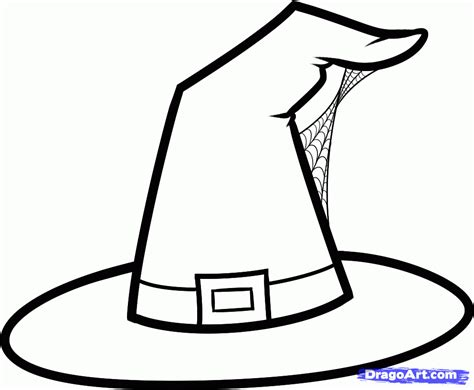 witch hat template how to draw a witch hat step by step seasonal free drawing tutorial added
