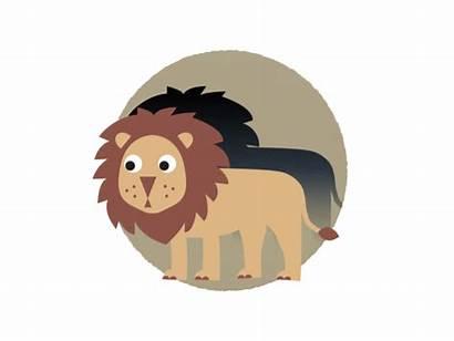 Lion Dribbble Fap Animation End Progress Campaign