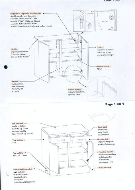 fixation element haut cuisine sur placo fixation éléments de cuisine sur ba10 40