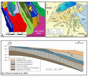 A  A Tectonic Map Of The Arabian Plate Shows The Mega