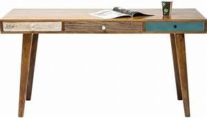 Bureau 150 Cm : malibu bureau 150cm bruin kare design ~ Teatrodelosmanantiales.com Idées de Décoration