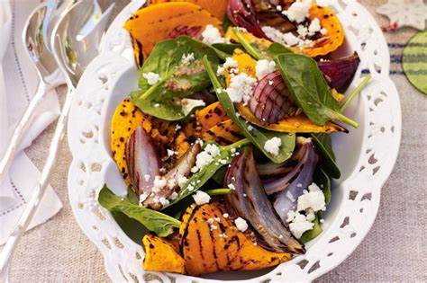 Pumpkin Risotto Recipe Easy by Barbecued Pumpkin Red Onion And Spinach Salad Recipe