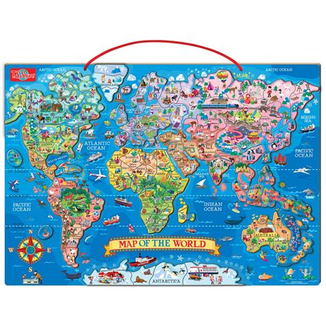 t s shure wooden magnetic world map puzzle ebay