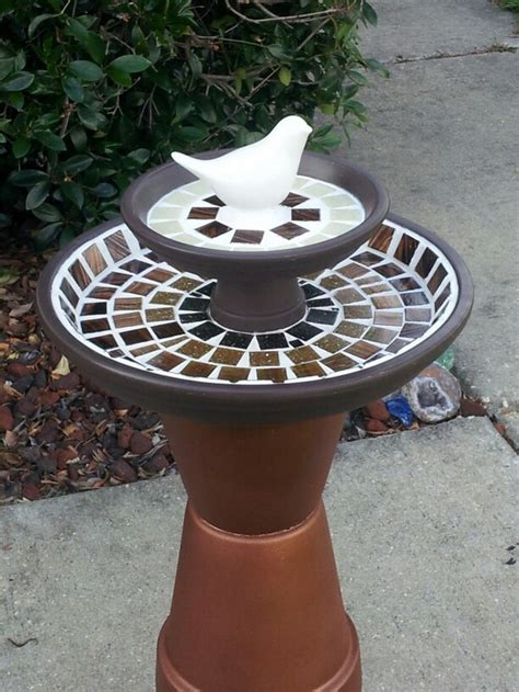 diy terra cotta flower pot bird bath home design garden