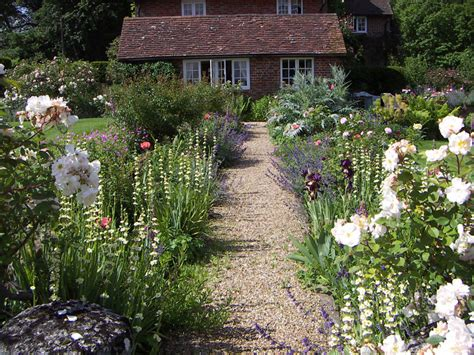 country cottage garden beautiful traditional