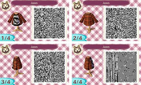 acnl qr code jaws   red flannel acnl aiden