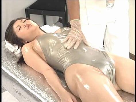 Shiny Swimsuit On Japanese Girl Getting A Massage Massage Porn