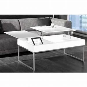 Table Basse Avec Plateau Relevable : table basse relevable 2 plateaux ~ Teatrodelosmanantiales.com Idées de Décoration