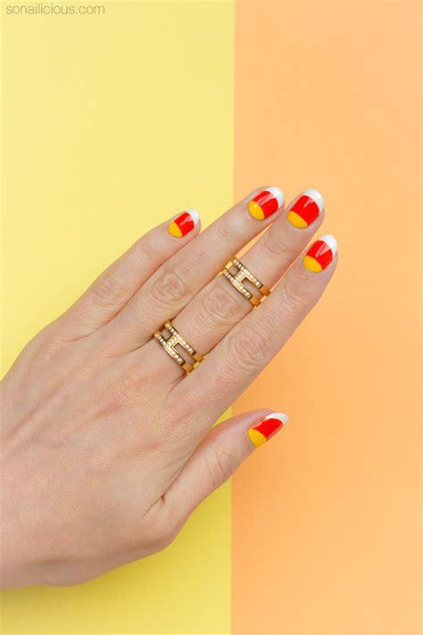 candy corn nails  halloween tutorial