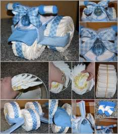 Cake Diaper Instruction Tricycle Baby Shower