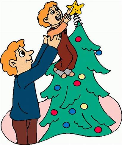 Decorating Clipart Tree Christmas Decorated Clip Decorations