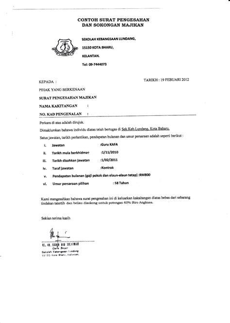 contoh surat rasmi sokongan ketua kung toko fd